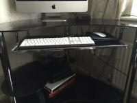 Glass Black Computer Desk! For Sale Cheap!