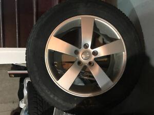 4 x Winter tires - 225/65R17 102T. Goodyear.