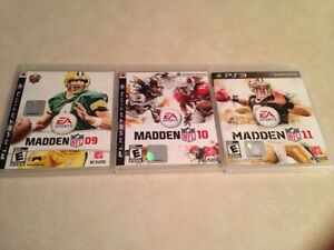 PS3 Games $10 for all 3 games MADDEN