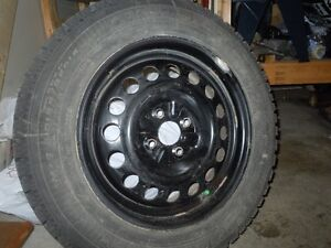 4 snow tires on rims - Like NEW