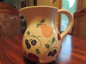 Princess House Orchard Medley Pitcher, Canister, Cheese Shaker