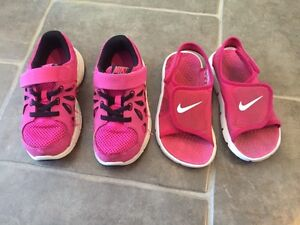 Nike sneakers and sandals
