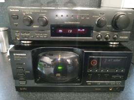 Technics amp & pioneer cd player