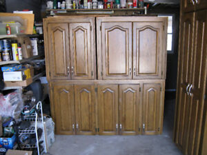 Used oak cabinets for sale.