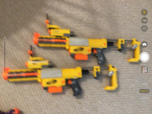 Two nerf guns,with cartridges 50.00