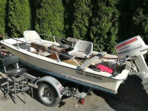 Fishing Boat, trailer and 25 hp