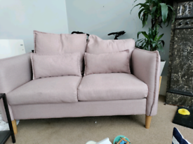 Pink 2 seater couch