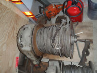 Large Industrial Winch w/ approx. 400 ft of 1/2 inch cable