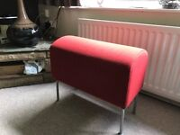 Comfy Red foot stool