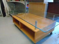 Glass Top Coffee Table/ TV Stand