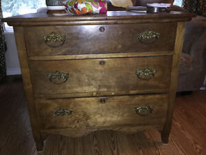 Antique Dresser with keyholes