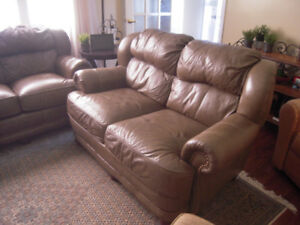 Leather Couch and Love seat by USA Manufacture Lane