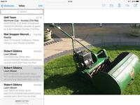 Ransomes Marquis 20in cylinder lawn mower, 3HP Briggs