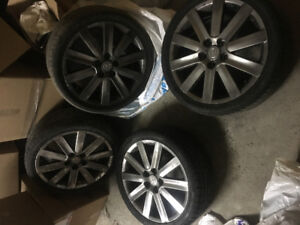 """4 MAZDA 18""""INCH SILVER RIMS WITH SUMMER 225/40R18 APTANY TIRES"""
