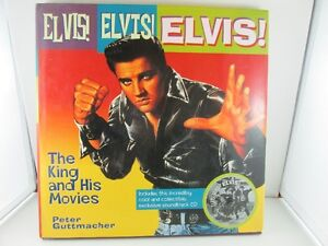Elvis The King and His Movies Hardcover Book with Unused CD