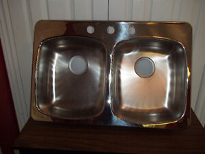 *NEW* Never used Dbl. Bowl Top Mount Stainless Steel Sink