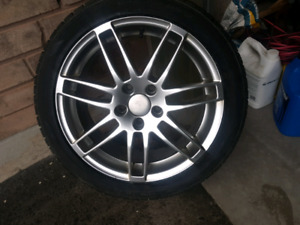 17inch audi rims with dunlop winters