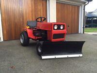 Lawn tractor snow plough