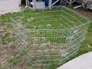 4 Gray Precision & 1 Top Paw Blk Wire Playpens (Benefits  SPCA)