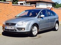 FORD FOCUS 1.6 GHIA 2005 LOW MILEAGE SERVICE HISTORY MOT CLEAN&TIDY 3 MONTHS WARRANTY