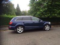 Audi Q7 s-line auto 7 seats