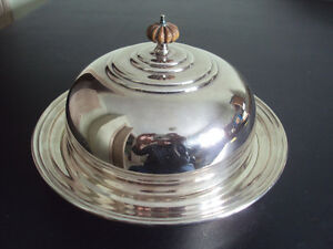 3 Piece Silver Plated Covered Vegetable Warming Dish Birks