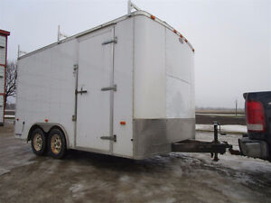 14' X 8' enclosed trailer with shelving