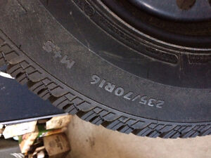 235/70/R16 Winter Tires on Rims Cambridge Kitchener Area image 1