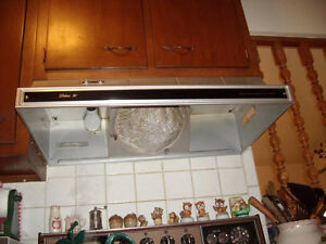 RANGE HOOD. Does not need to be working