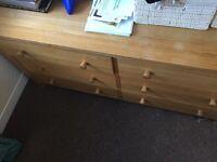 Double drawer unit
