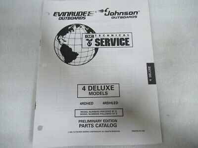 1997 Evinrude Johnson 4Deluxe Model Final Edition Part Catalog Manual P/N 438142