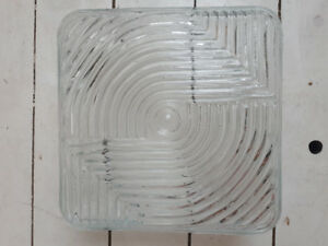 8 square beveled glass lights