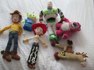 HISTOIRE DE JOUETS DISNEY TOY STORY LOT 6 PELUCHES WOODY BUZZ