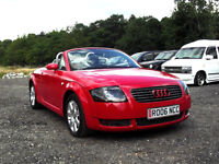 2006 AUDI TT 1.8T ROADSTER 2 DOOR CONVERTIBLE TURBO MANUAL RED PX SWAP SWOP