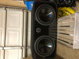 2 10inch alpine type s subwoofers with box