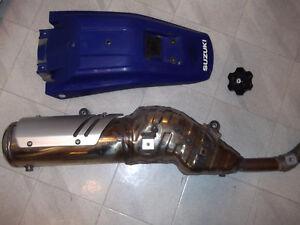 dr 650 parts,rear fender,gas cap, exhaust,sprocket,mirrors