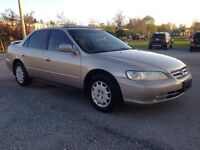 2002 Honda Accord Low Kms! Safetied $3999!!!