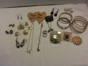 Jewery lot earrings ,scarf clips ect