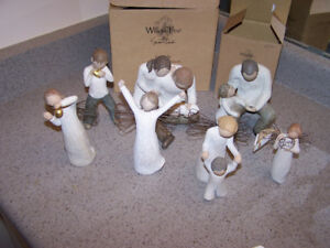7 WILLOW TREE FIGURINES - amazing collection