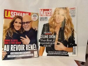 2 magazines revues Céline Dion, vendues en lot