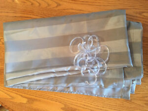 Shower Curtain and Hangars