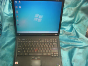 SOLD IBM R52 Windows 7 laptop with Genuine IBM A/C adapter