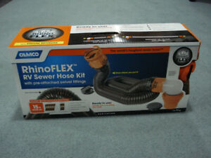 Rhino Flex Rv sewer hose kit 15 Ft, new in box.