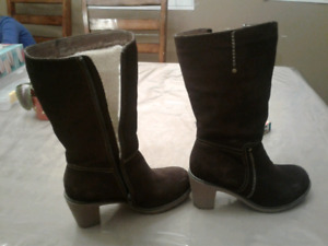 Brand New Biotime Brown Suede Boots