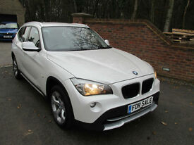 2011 (60) BMW X1 2.0D XDRIVE 4X4 SE AUTOMATIC + WHITE & JUST 58,000 MILES