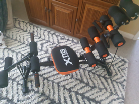 Exercising equipment for whole body workout.