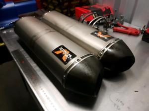 Wings Titanium Mufflers KTM 990 SM SMR SMT
