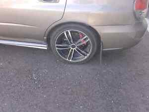 5x100 rims and tires decent rubber