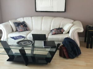 LIVING ROOM SET - Couch, centre table, 2 end tables