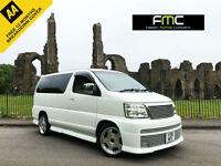 2001 Nissan Elgrand Rider Autech 3.5 **51,000 Miles - Pearl White - 8 Seater**